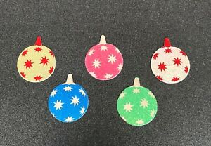 Christmas baubles die cut foiled card toppers embellishments, card toppers pk10