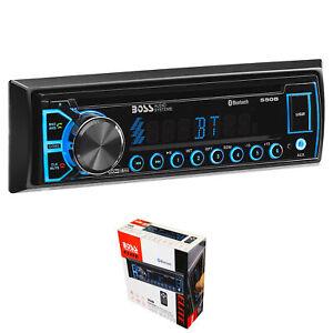 BOSS Single Din Radio with Bluetooth, AUX, CD, MP3, USB, AM/FM, WMA, & Remote