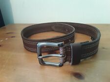 "Brown Leather Belt, XS ,Men's/Man's 27"" - 34 """