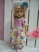 "10"" Boneka Play Suit Romper and Hat.      Little Darling Sister"