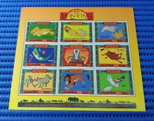1994 Disney's Lion King Uganda Commemorative Stamps Issue Miniature Sheet MNH
