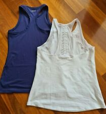 Under Armour  White Razorback & Lorna Jane Navy High Neck 2x Tops VGC