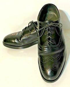 RedWing 8701 Black Steel Toe Wingtip Dress Work Shoes w/ Griptec Sole - Size 9EE