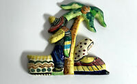 AUSTRALIAN POTTERY VINTAGE VANDE POTTERY WALL POCKET VASE SLEEPING MEXICAN