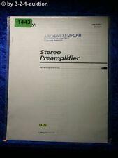 Sony Bedienungsanleitung TA E1 Pre Amplifier (#1443)
