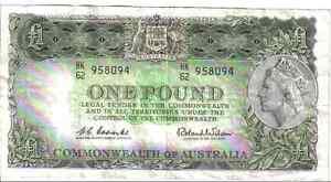 AUSTRALIA, 1 POUND, QEII, ND(1961 - 65)