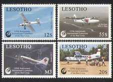 Lesotho 1989 Aviation/Red Cross/Medical/Plane 4v n16514