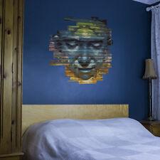 Colorido Graffiti Face Vinilo Etiquetas De Pared Para Decoración Del Hogar / Diseño De Interiores /...