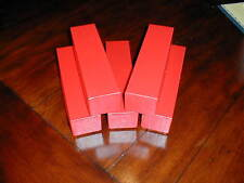 5 New Red Cardboard Storage Boxes 2x2x9 for 2x2 Coin Holders Flips Box + Bonus**