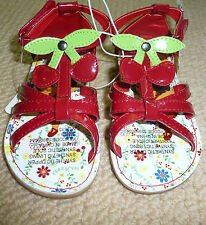 NWT Dora The Explorer Licensed Girls Red Cherry Sandals Shoes Size 6 7 8 9 10