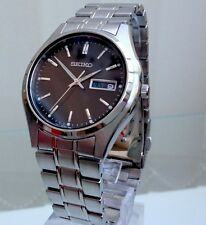 NEW Seiko Men's Watch DAY & DATE Hardlex crystal glass Genuine RRP £250