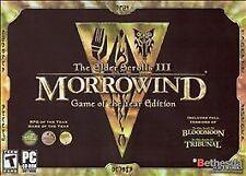 Elder Scrolls III: Morrowind -- Game of the Year Edition (PC, 2003)