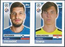 TOPPS CHAMPIONS LEAGUE-2016-17- #QFC03-04-DINAMO ZAGREB-A SEMPER / P STOJANOVIC