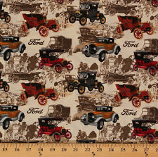 Cotton Print Concepts Ford Model T Vintage Fabric Print by the Yard D669.22
