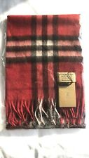 Brand New Burberry 100% cashmere scarf FOR KIDS cherry red