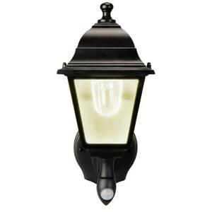 Black Motion Sensing LED Outdoor Barn Light Sconce by MAXSA
