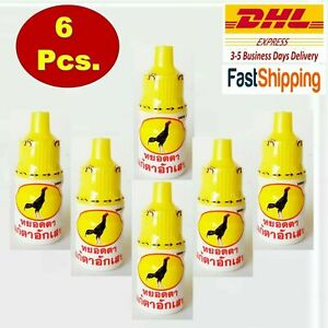 6x Thai Treatment Inflammation Sore Eye Rooster Chicken Cock Para Pigeon 4CC