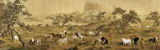 Chinese Ancient Famous Painting Animals All the Pretty Horses Copy Version