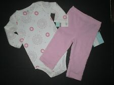 NEW NWT INFANT GIRLS ADEN + ANAIS PINK & GRAY PINWHEEL BODYSUIT OUTFIT SZ 6-9 M