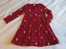Gymboree Holiday Panda Girls 4 4T Flared Red Knit Twirl Dress Winter Xmas Floral