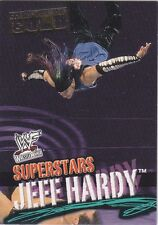 JEFF HARDY 2002 Fleer WWE WWF CHAMPIONSHIP GOLD EMBOSSED PARALLEL Card #7