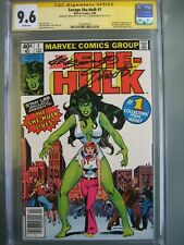 Savage She-Hulk #1 Newsstand UPC CGC 9.6 SS Signed Jim Shooter & Joe Sinnott
