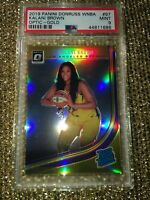 Kalani Brown LA Sparks 2019 WNBA Donruss Optic Gold PRIZM Refractor #3/10 PSA 9