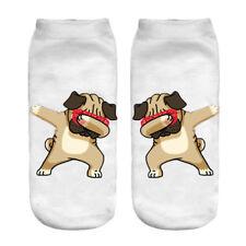Dabbing dog socks - cartoon dancing dab pug dogs sunnies stocking novelty sock