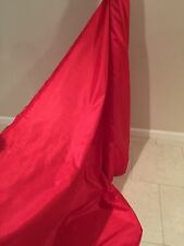 """China Silk Linning 100% Polyester In Solid Christmas Red Color   60"""" 10 Yards"""