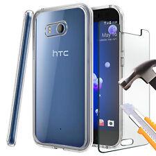 HTC U11-Tough Mince Clair TPU Gel Case Cover & verre