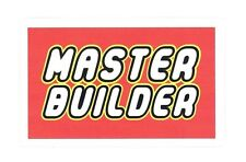 "LEGO MASTER BUILDER STICKER ~ 4"" VINYL DECAL STICKER  * NEW *"
