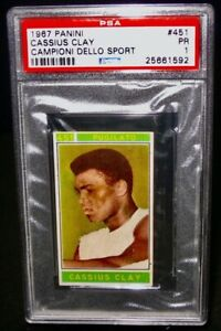 PSA 1 PR 1967 Panini CASSIUS CLAY Boxing Card #451 Campioni Dello Sport ALI
