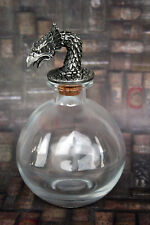 Phoenix Stopper with Round Bottle - Apothecary Potion Alchemy Elixir Hermeticism