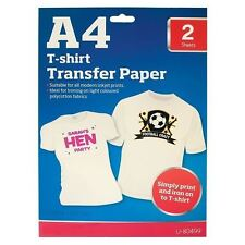 A4 Iron on T-shirt Transfer Paper for Ink Jet Print 2pcs