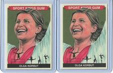 (2) 2013 SPORT KINGS OLGA KORBUT OLYMPIC GYMNASTICS CARD #282 LOT BASE & PREMIUM