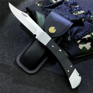 Buck Knives 55 Mini 110 Wood Folding Sheath Hunter Genuine Ebony Pocket Knife