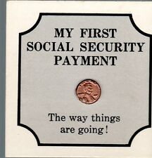 "fantasy issue small penny ""My First Social Security Payment"""