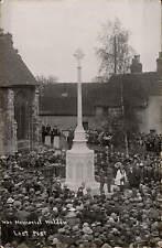 Maldon War Memorial. Last Post.