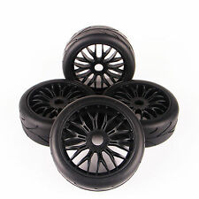 On-Road Tires Tyre Wheel Rim Set For HPI HSP Traxxas 1/8 Scale RC Buggy Car