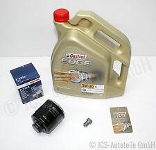 CASTROL EDGE FST 5W30 Motoröl + Bosch Ölfilter SKODA ROOMSTER 5J 1.4 TOP NEU