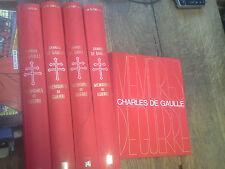 Charles de Gaulle Mémoires de guerre 5 classeurs en ce temps là