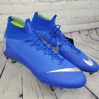 Nike Men's 13 Racer Blue/Silver Mercurial Superfly 6 Elite FG  Soccer Cleats