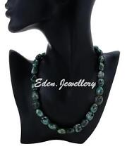 US$440 Elegant Chic Necklace 360.0ctw GENUINE Emerald Sterling Silver SAVE $300