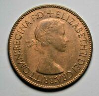Elizabeth II - penny 1953 - coronation year - uncirculated, full mint lustre