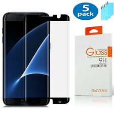 5x For Samsung Galaxy S7 Edge CASE FRIENDLY 3D Full Cover Glass Screen Protector