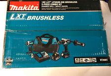 NEW Makita XT268T 18V LXT Lithium-Ion Brushless Hammer Drill & Impact Driver