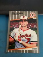 1989 Fleer # 616 BILLY RIPKEN Baltimore Orioles Error Face Face HOT LOOK