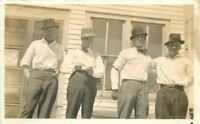 C-1910 Group Four Men Cigarette rolling Paper RPPC Real photo postcard 2183