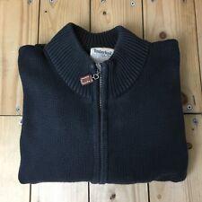 Men'S Dark Grey Timberland Zip Cardigan XL maglione cotone biologico all'aperto un