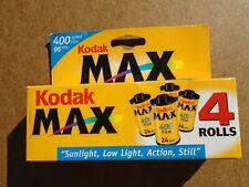 New Listing4 Rolls Vintage Nos New Kodak Max 400 35mm Camera Film Rolls 1999 2002